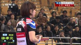 亞洲盃乒乓球賽2014 丁寧 - 徐孝元 Table Tennis Asian Cup 2014 Ding Ning - Seo Hyowon