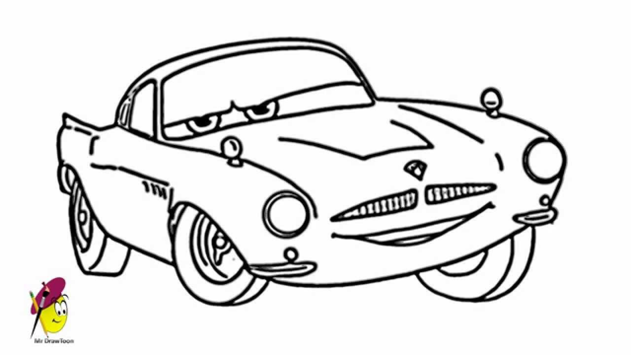7 Best Images Of Cars Movie Coloring Pages Printable Cars Coloring