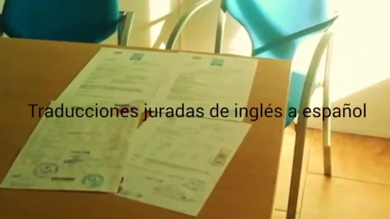 Traducción jurada certificado nacimiento - YouTube