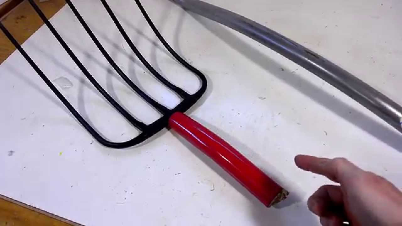 pitchfork with curved handle - youtube