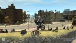GTA 4 - Аварии, трюки и падения (Stunts and Crashes) #15