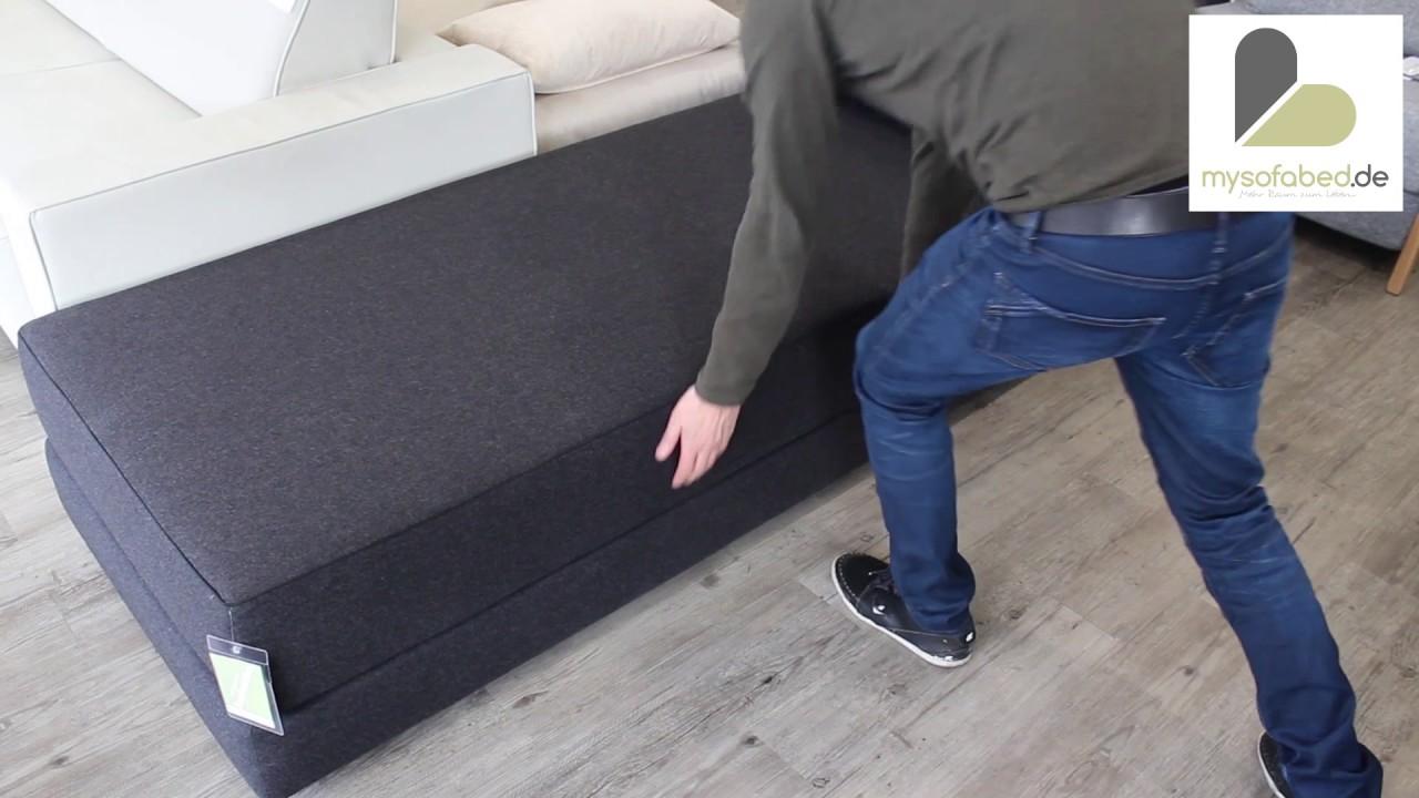 bettsofa gr ne erde schlafsofa mit bettkasten zurbr ggen. Black Bedroom Furniture Sets. Home Design Ideas