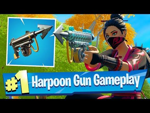 NEW Harpoon Gun Gameplay - Fortnite Battle Royale