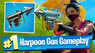 NEW Harpoon Gun Gameplay - Fortnite Battle Royale