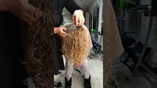 Завивка волос на длинные волосы.  Состав