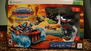 Skylanders Superchargers Xbox360 Unboxing + Short Gameplay