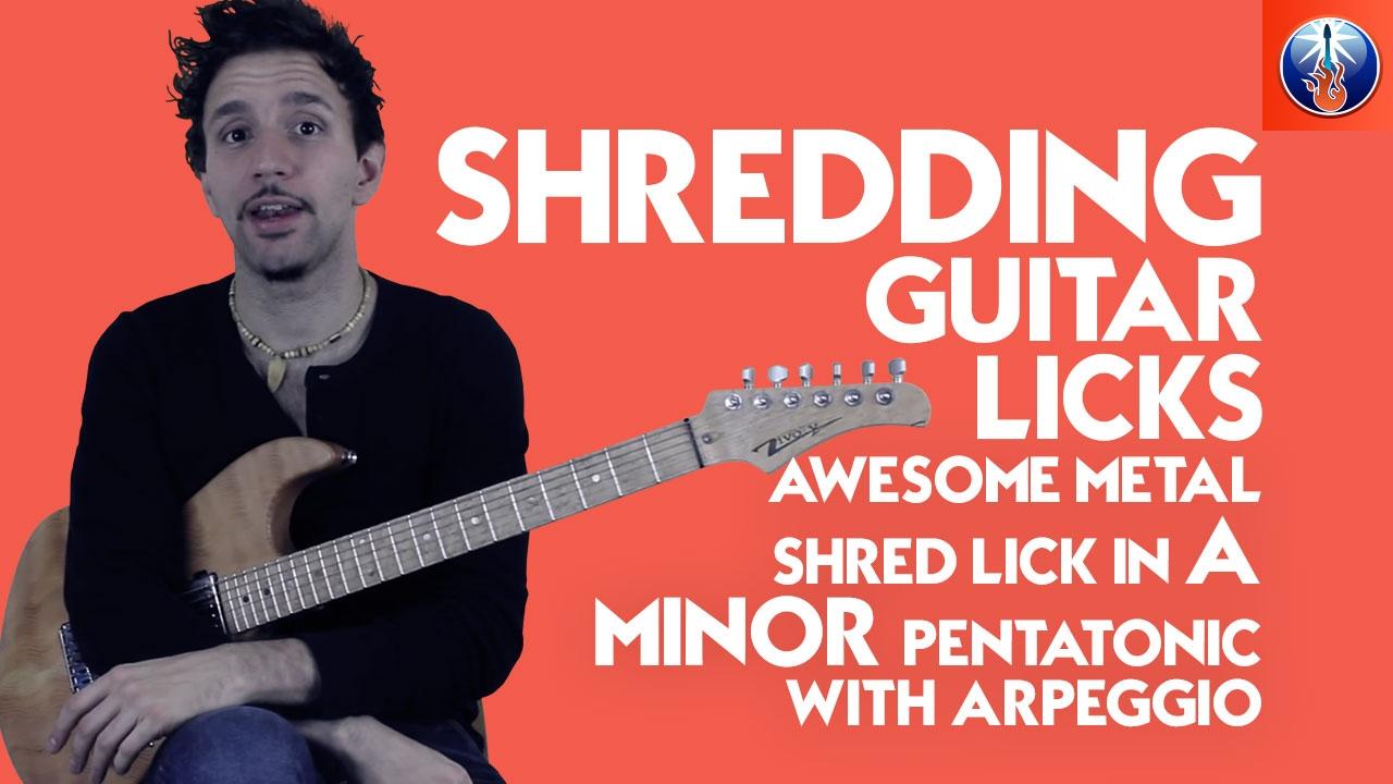 shred lick with minor pentatonic scale arpeggios lead guitar lesson on shred licks youtube. Black Bedroom Furniture Sets. Home Design Ideas