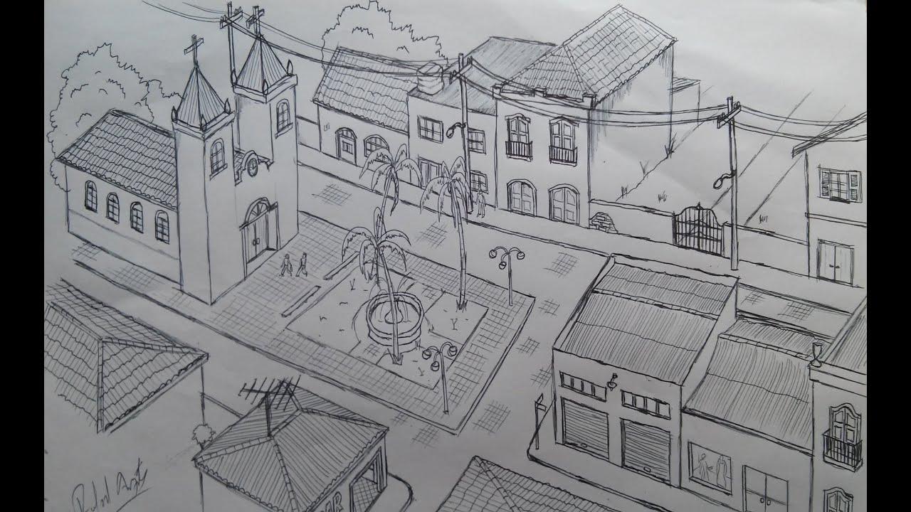 Desenhando Uma Cidade How To Draw A City Youtube