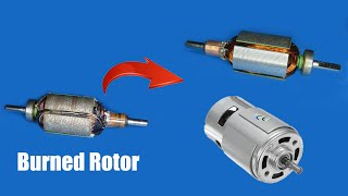 How to repair a burned 775 DC motor very easy