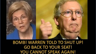 Ouch!!! Elizabeth Warren Silenced! Stop Talking! Go To Your Seat! Humiliated! You