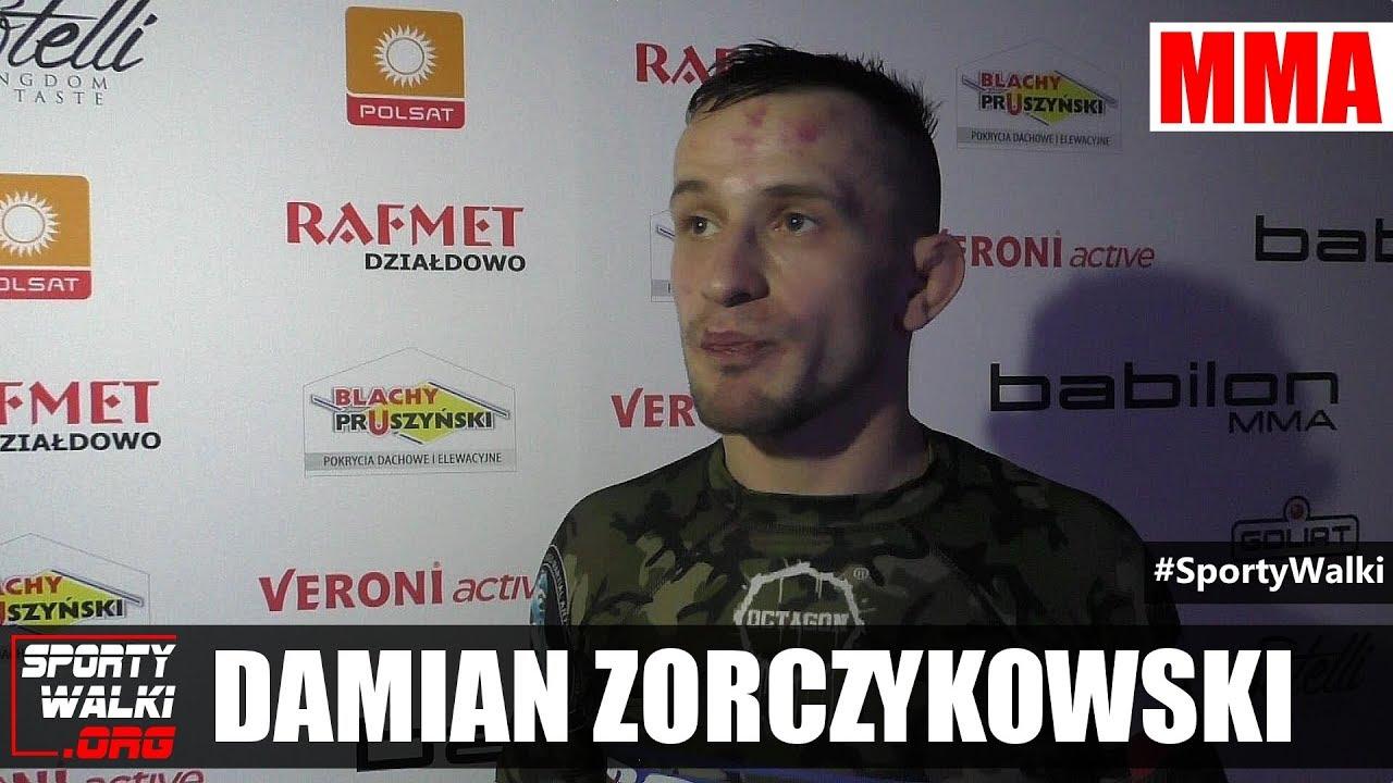 Damian Zorczykowski  po gali Babilon MMA 2
