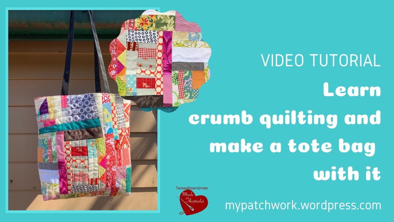Learn crumb quilting and make a tote bag with it video tutorial