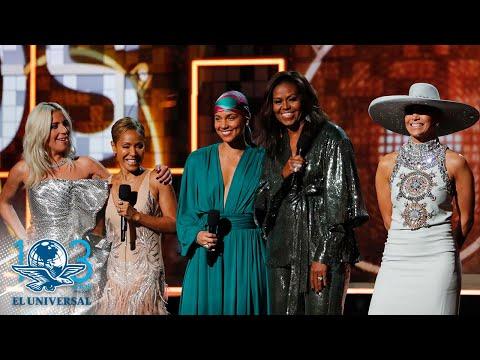 Michelle Obama realiza una aparición sorpresiva en los Grammy