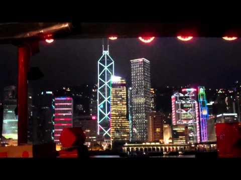 China,Hong Kong-night cruise in Victoria Harbor 1**