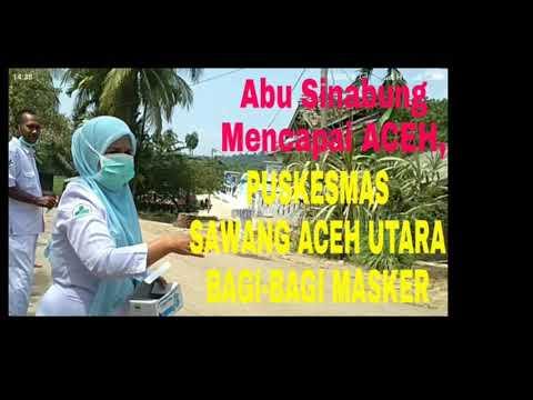 Abu G. Sinabung Capai Aceh, Puskesmas Sawang Kab.  Aceh Utara Bagi Masker.