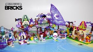 Lego Elves 41075 Treetop Hideaway With Bakery - Ship - Spa - Workshop Speed Build