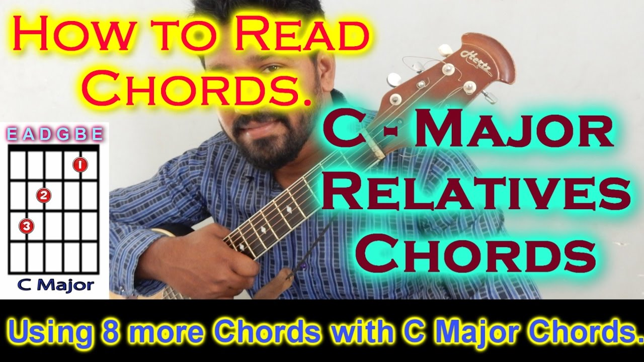C Major Relatives Chords How To Read Chords Youtube