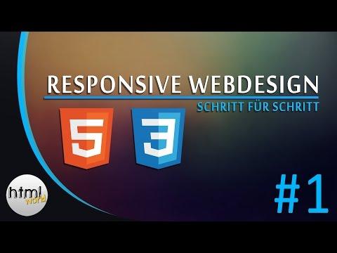 HTML5/CSS3 Tutorial: Responsive Webdesign erstellen // deutsch [#1]