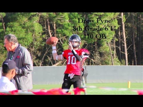 New Canaan's Drew Pyne, an 8th grader at Brunswick in Greenwich, has received college football scholarship offers from Florida State and South Alabama.
