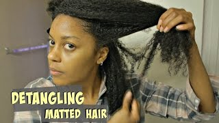 Detangling Long, Fine, and Matted Natural Hair