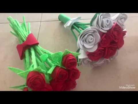Ramo De Rosas De Goma Eva Facil Y Rapido Youtube