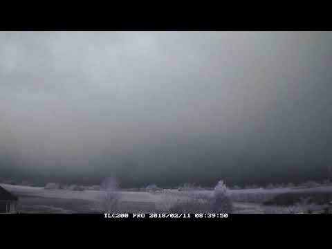 11th February 2018 timelapse: Hail, sleet, snow showers