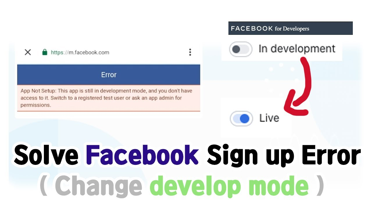 How To Change Facebook In Development Mode To Live To Use Sign Up Make Free Privacy Policy Youtube