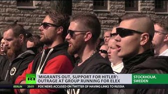 'Migrants out, support for Hitler': Outrage at group running for election in Sweden