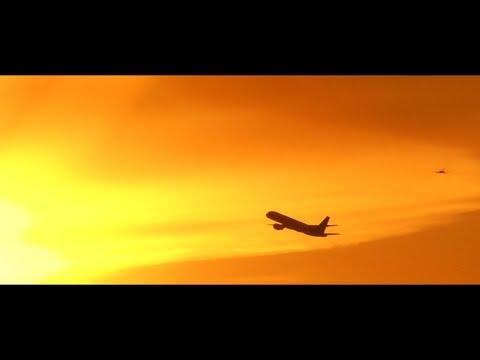 Aviation Art: Sunset Flying