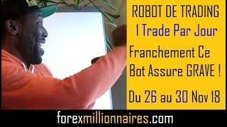 ROBOT DE TRADING MT4    FOREX EA  1 Trade Par Jour   26 au 30 Nov 2018