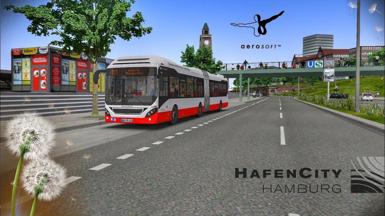Omsi 2: Addon DLC   Hafencity Hamburg Modern   Line 111   No Commentary