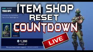 FORTNITE LIVE - ITEM SHOP RESET COUNTDOWN - NEW FEATURED AND DAILY ITEMS IN SHOP - STREAM SNIPE