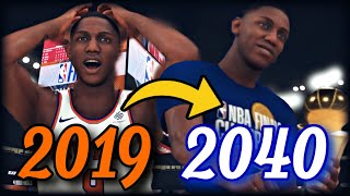 RJ BARRETT'S ENTIRE NBA CAREER SIMULATION | NEW YORK KNICKS SAVIOR, OR BUST? | 21 YEARS | NBA 2K20