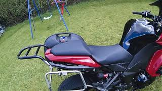 Z1000sx home made  pannier rack Pt 2