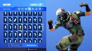 TECH OPS SKIN SHOWCASE WITH ALL FORTNITE DANCES & EMOTES
