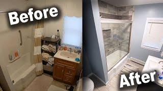 Bathroom Remodel TimeLapse  DIY Renovation Start to Finish