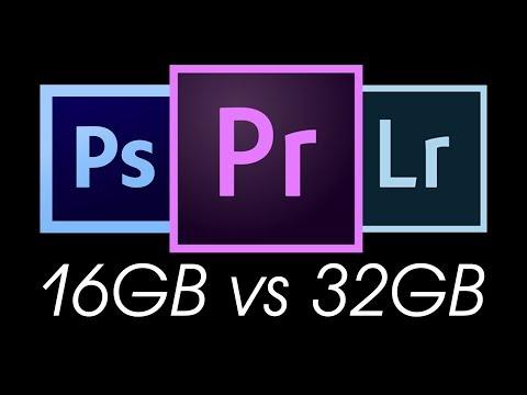 SHOULD YOU UPGRADE YOUR RAM? 16GB VS 32GB Test In Adobe Premier Pro, Photoshop & Lightroom + Tips