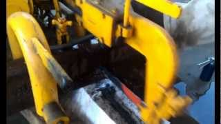 cutting and drilling railroad track with antique equipment, FRRM