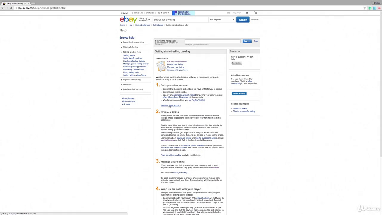 Make 5000 Drop Shipping On E Bay Part 1 Setup Ebay Seller Account Youtube