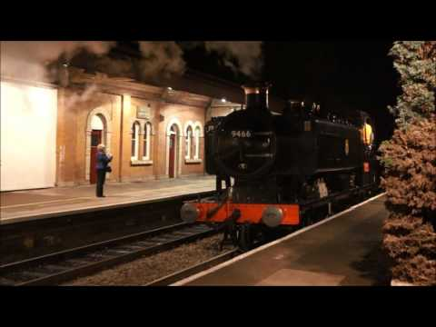 GWR 9466 loaded test run 3.11.16 Hall Green to Stratford-upon-Avon
