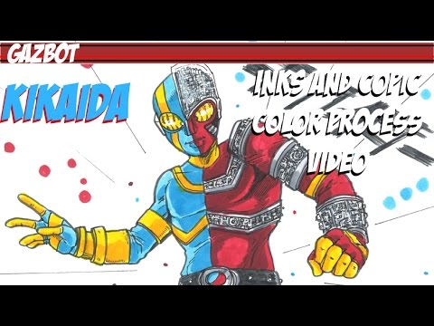 Kikaida Kikaider process video full length with commentary by GAZBOT