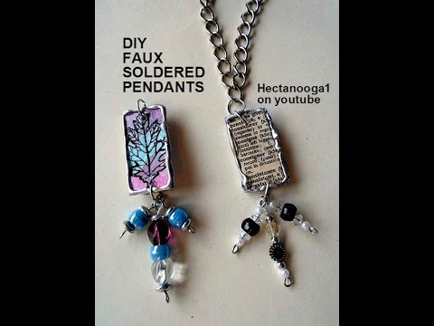 Diy jewelry making faux soldered pendants youtube diy jewelry making faux soldered pendants mozeypictures Images