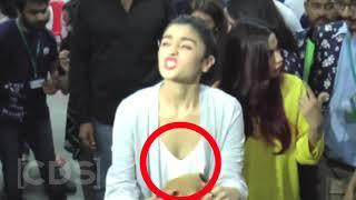 Alia Bhatt SHOCKING Wardrobe Malfunction OOPS Moment In Public   YouTube