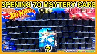 Unboxing 70 Mystery Hot Wheels Cars (You'll never guess what I found)