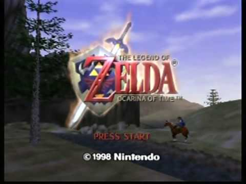 The Legend of Zelda Ocarina of Time: Title Screen