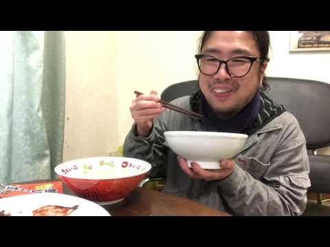 掃除オッサンはパンダラーメンと御飯の供で大盛飯を食う飯動画飯テロ