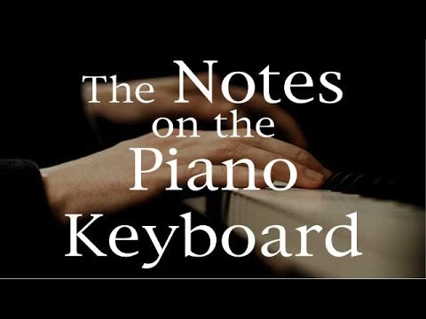 Piano Notes The Notes on the Piano Keyboard, with piano notes chart - piano notes chart