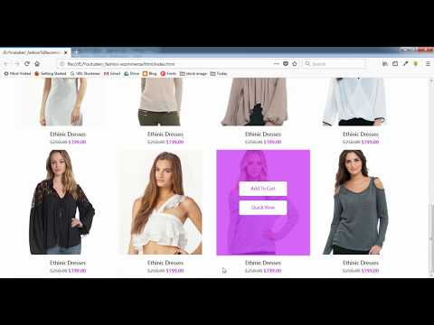 Tiny Ecommerce Website Design Using HTML And CSS - 2