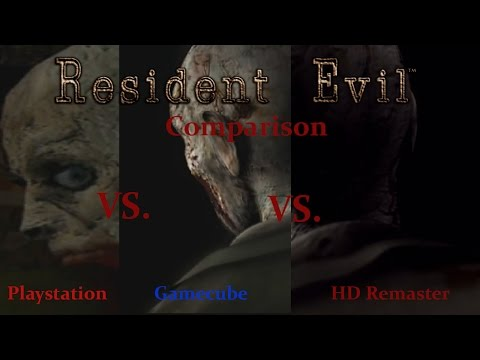 Resident Evil Ultimate Comparison - HD Remaster Vs. Gamecube Vs. Playstation