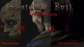 Resident Evil Ultimate Comparison - HD Remaster Vs. Gamecube Vs. Playstation